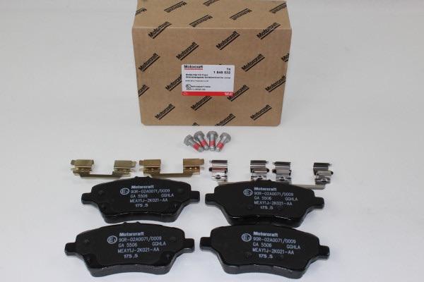 Bremsbeläge vorne Ford Fiesta - B-Max - Courier