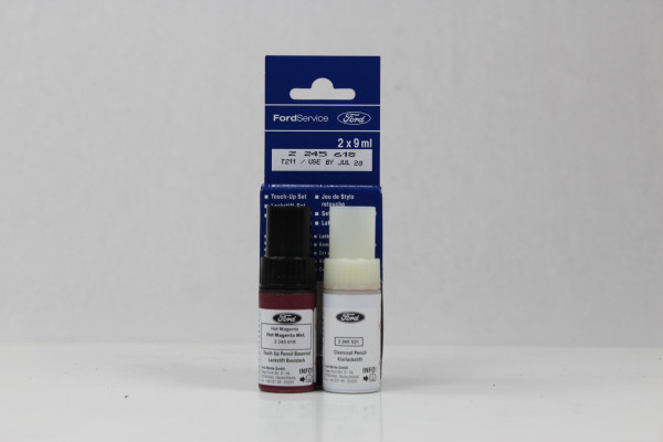 Lackstift Hot-Magenta-Metallic + Klarlack je 9ml