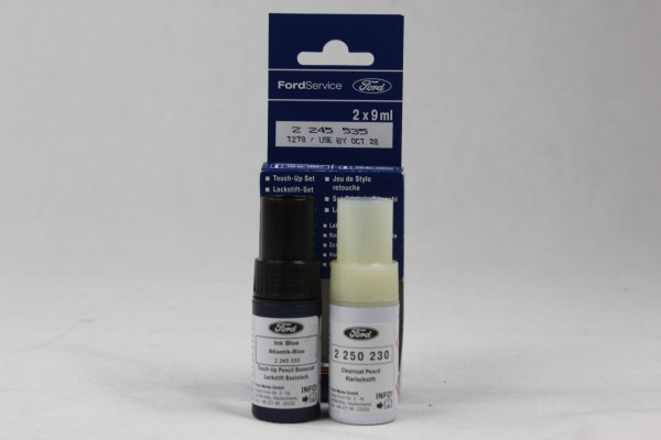 Lackstift Atlantik-Blau + Klarlack je 9ml