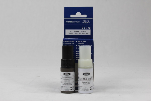 Lackstift Nocciola Braun Metallic + Klarlack je 9ml