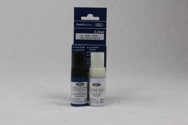 Lackstift Saphir Blau Metallic + Klarlack je 9ml